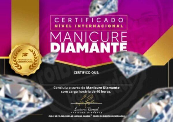 Certificados Nível Internacional Manicure Diamante