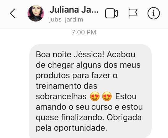 depoimentos Curso Sobrancelhas Perfeita com Jéssica Soares