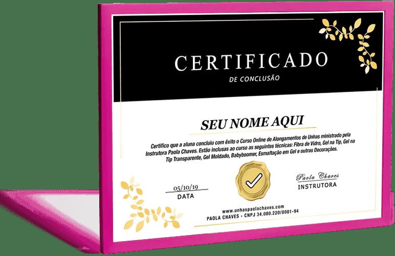 Curso Alongamento de Unhas com Paola Chaves com certificado