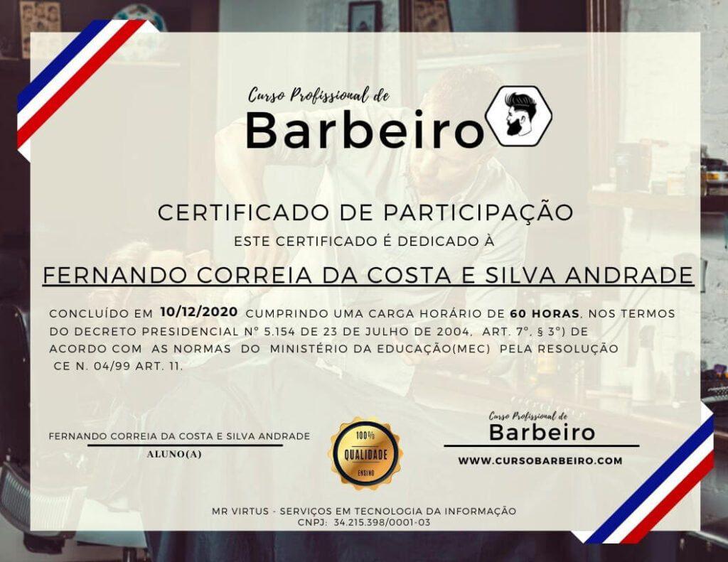 Curso de Barbeiro Online Certificado