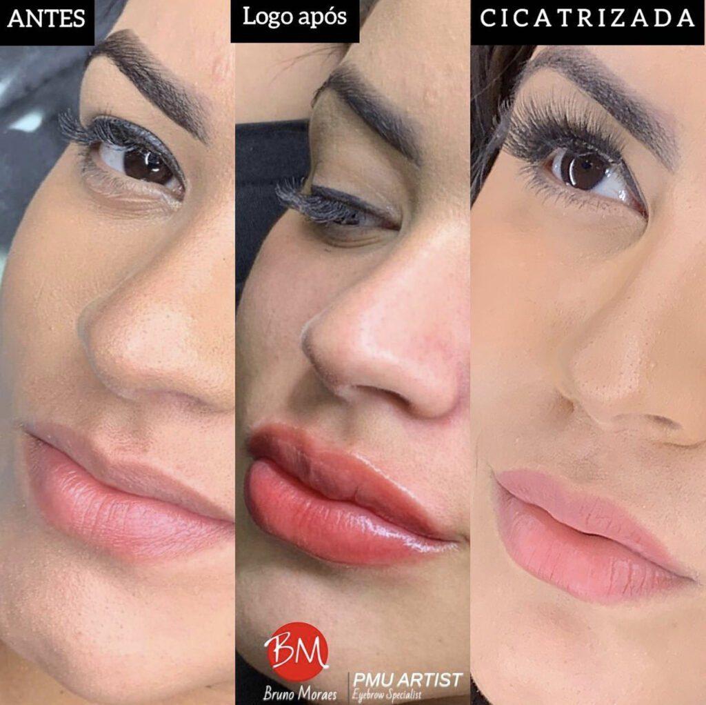 Micropigmentação Labial antes e depois