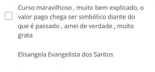 Curso Neutralização e Despigmentação de Sobrancelhas e Lábios da Raquel Barros depoimentos