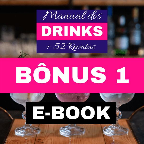 E-book Manual dos Drinks + 52 Receitas