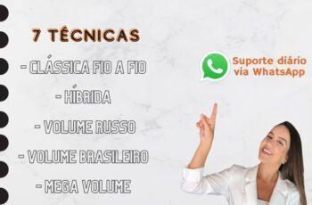 são de Cílios Clássica Híbrida Volume Russo e Brasileiro